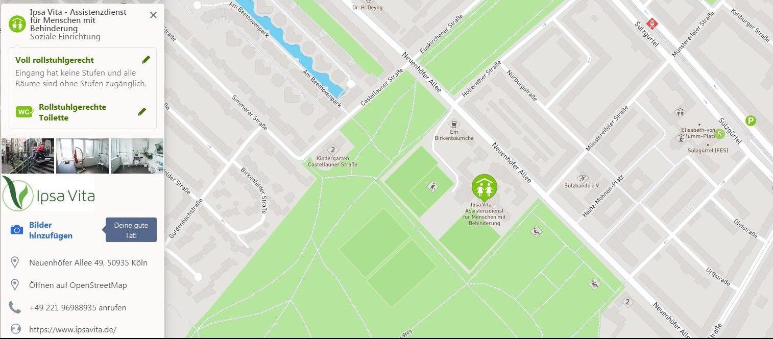 wheelmap: Assistenzdienst Ipsa Vita in Köln finden